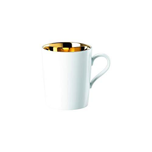 Arzberg Rosenthal Tric - Gold titanisiert - Becher mit Henkel/Henkelbecher/Kaffeebecher - Porzellan - 320 ml