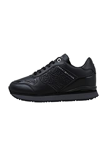 Tommy Hilfiger Dressy Wedge Sneaker, Scarpe da Ginnastica Donna, Nero, 42 EU