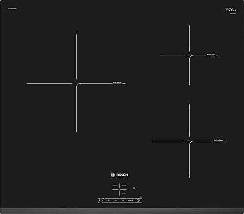 Bosch PUC631BB2E Serie   4 - placa de inducción, 3 zonas de cocción, 60 cm, color negro