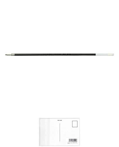 ぺんてる 油性ボールペンリフィル BKL10 黒 BKL10-A 10セット + 画材屋ドットコム ポストカードA