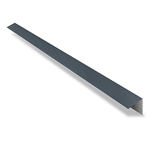 Faîtière Simple à Rabat pour Tôle Imitation Tuiles - Faîtière Toiture - 2100x145x145 mm - Recouvrement 100 mm - Acier 0,50 mm - Revêtement Mat Texturé 40 µm - Garantie 20 Ans - Anthracite Mat