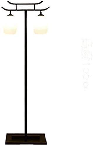 GLXLSBZ Lámpara de pie de decoración Vintage, lámpara de pie y Cuerpo de lámpara de Hardware de Pantalla de Vidrio, Moderno para Dormitorio y Habitaciones contemporáneas