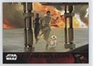 Rey and Finn's escape (Trading Card) 2015 Topps Star Wars: The Force Awakens Series 1 - [Base] - Lightsaber Green #90