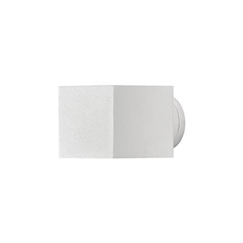 Konstsmide 7341-250 Moderne Applique murale carrée en métal Blanc mat Carré Square blanc