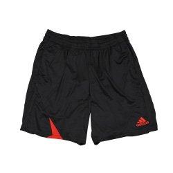 adidas UCL REFEREE - Pantalón corto, color negro y rojo