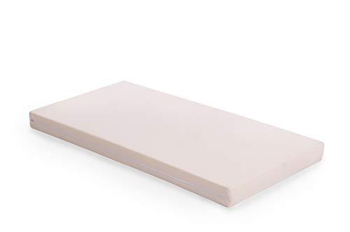Vinkelau Passende Matratze für Stapelbett / Maße: 120x60x8 cm / Schaumstoffkern RG24/40 / Bezug: 100% Baumwolle (waschbar) / Farbe: Uni-beige