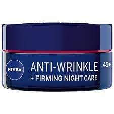 Nivea Anti-wrinkle + firming night care face cream 45+ with macadamia nut oil, shea butter and panthenol 50ml / 1.69 oz