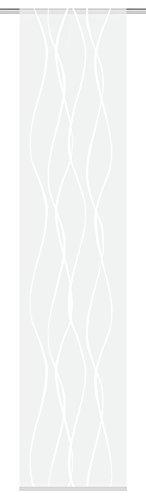 Home Fashion Panel japonés Voile, plástico, 245x 60cm, Tela, Naturaleza, 245 x 60 cm