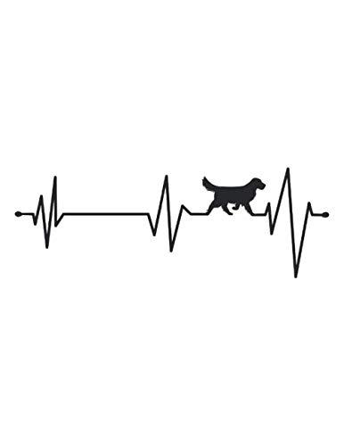 Retriever frecuencia cardíaca: Cuaderno | Notebook | A cuadros, 21,59x27,94 cm (8, 5