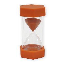 TimeTex Sanduhr, 12 cm, 6,5 cm Durchmesser, 10 Minuten, X-Groß, Orange