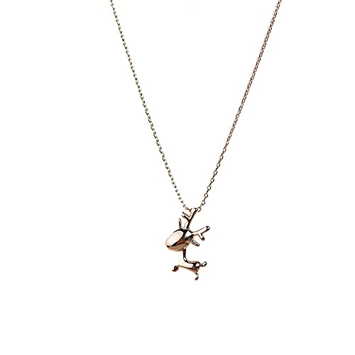 925 Silver cartoon pendant necklace necklace simple cute girlfriend jewelry friendship gift Gold40cm
