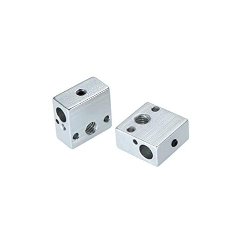 xqjywjcd 2 bloques de calefacción de aluminio para calentador de extremo caliente, 20 x 20 x 10 mm para Anet ET4 ET4X ET4PRO ET5 ETPRO 3D piezas de impresora accesorios
