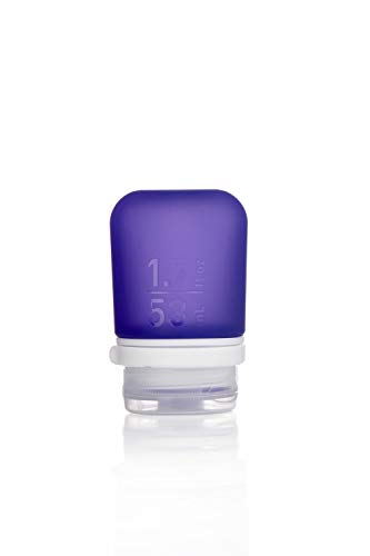 humangear GoToob+ Silicone Travel Bottle with Locking Cap, Small (1.7oz), Purple