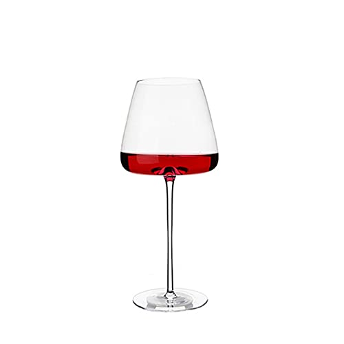 shiqi Copa de vino Utensilios de cocina Cristal Agua Champán Copas Burdeos Borgoña Boda Fiesta Regalo de Cumpleaños Sin Plomo (Color: 1 Bordeña)