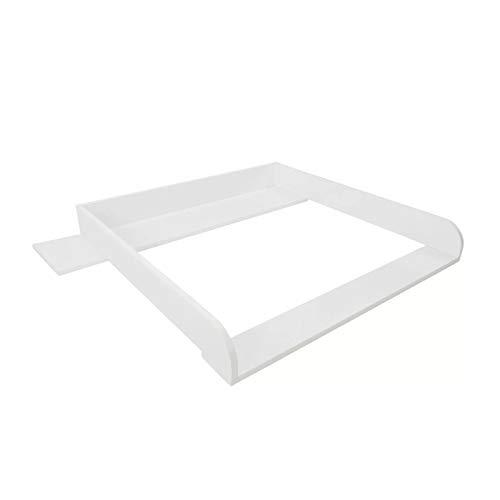 Puckdaddy cambiador Lijan - 108x80x10 cm, cambiador de madera en blanco, cambiador apto para las cómodas Hemnes de IKEA