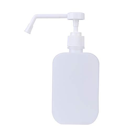 Dispensador de jabón de 500 ml, de forma individual, envasado y embotellado, color blanco, desinfectante de manos, champú cosmético, lavado corporal, botella vacía