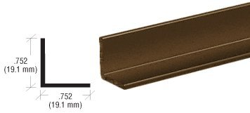 CRL Bronze Electro-Static Paint 3/4' Aluminum Angle Extrusion - 12 ft Long