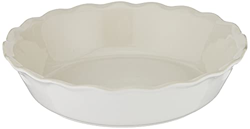 """Emile Henry Made In France HR Modern Classics Pie Dish, 9"""", White"""