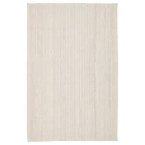 Tiphede IKEA Teppich 120x180 cm flachgewebt - Natur weiß schwarz - 100% Baumwolle - waschbar
