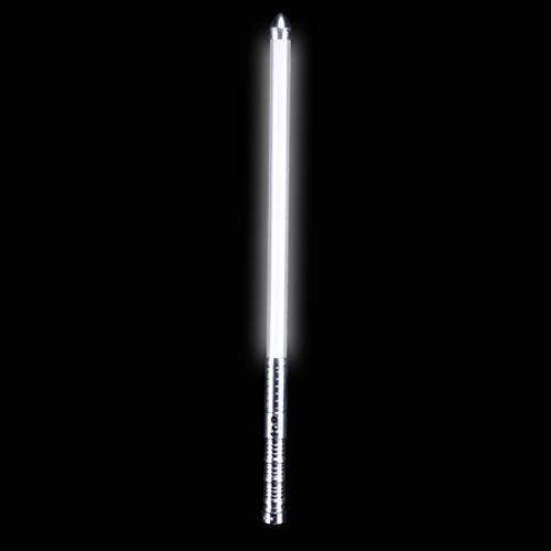 GYX Star Wars Lightsaber Vehicle Camping, Security, Selbstverteidigung, Metall-Lichtschwert Beleuchtung LED Red Alloy Head Silver Handle White Light