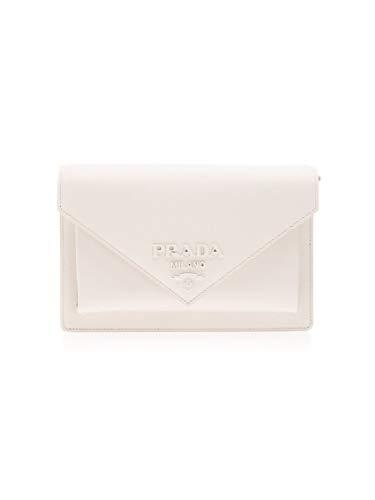 Prada Luxury Fashion dames 1BP0202EEPF0009 witte schoudertas |