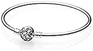 Pandora Women's Silver Zircon Sterling Silver Charm Bracelet, 17cm - 597137-17