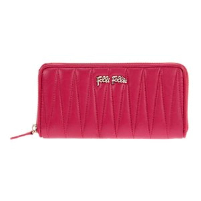 Folli Follie WA13P033WF-FUXIA フォリフォリ ラウンドファスナー長財布 フューシャ (並行輸入)