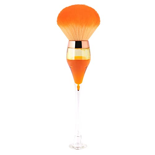 1pc Grosse Poudre Maquillage de Maquillage de Maquillage Niveau de vin Rouge vin de vin cosmétique Outils de beauté Chenhuanbaokeji (Handle Color : Champagne)