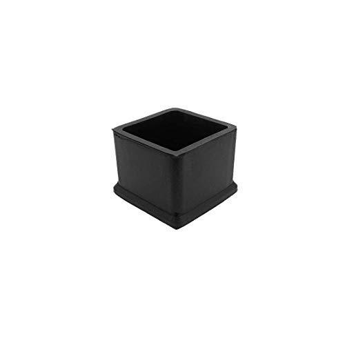 Flyshop - Juego de 4 patas cuadradas de silicona, 40 x 40 mm, color negro