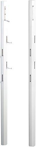 HomeTrends4You 701150 Garderobe / Wandgarderobe mit Klapphaken Palo, MDF Dekor Weiß Hochglanz, 185x8x4 cm