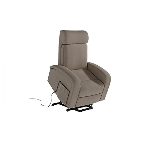 Shiito.- Sillón Relax eléctrico, sillón reclinable función elevapersonas Modelo Bari (Beige)