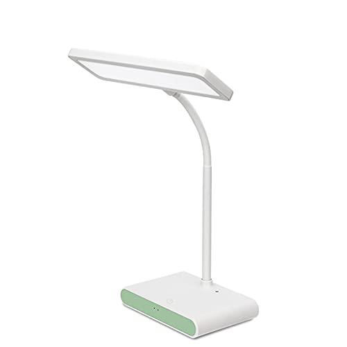 HENY LED Control Tátil Lámpara De Flexo Escritorio,Cuidado De Ojos Regulable Lámpara De Mesa,3 Temperatura De Color & Carga USB para Oficina Casa (Clase De Eficiencia Energética A+++)-Verde