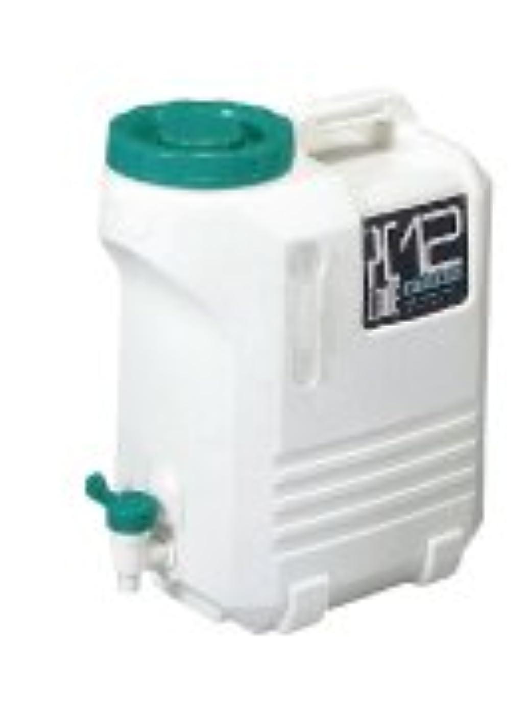 レタス青写真膨張する北陸土井工業 ヒシエス コック付水タンク PCコード#12 抗菌剤入り