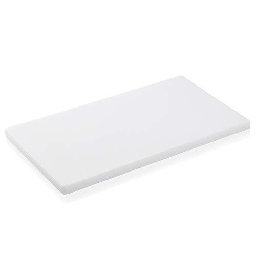 WAS 1830600 Schneidbrett PP, weiß - 60x40x2 cm