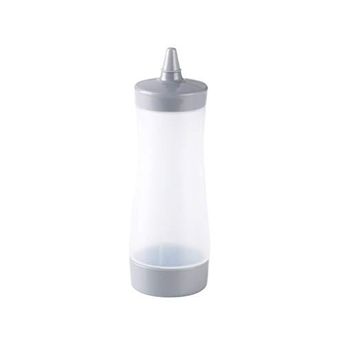 BESTONZON Botella de Dispensador de Salsas Aceite de Oliva Vinagre de Plástico para Ensalada de Cocina (Gris)