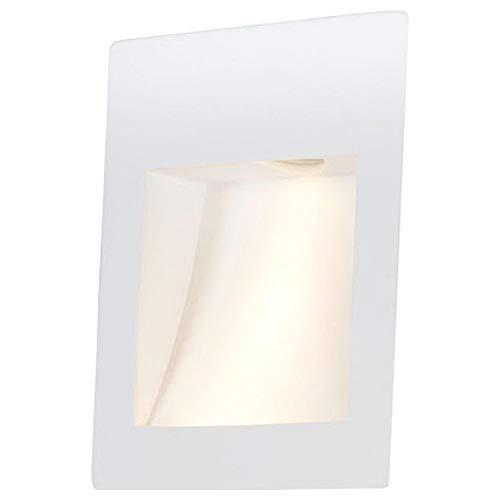 famlights Gips-Wand Einbauleuchte Lenny, weiß | überstreichbare Wandeinbauleuchte Wandlampe Wandeinbaulampe Einbauleuchte modern edel schlicht Leuchte Rigips-Lampe LED-Wandleuchte Wandbeleuchtung