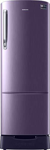 Samsung 255 L 4 Star Direct Cool Single Door Refrigerator(RR26N389YUT/HL, Pebble Blue, Base Stand with Drawer, Inverter Compressor)