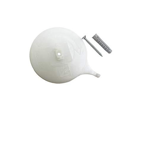 Gardinia Deckenträger für Aluminium-Vorhangschiene 3-läufig weiß, 2er Pack, Zutreffend, 2