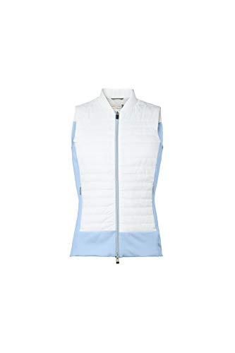 KJUS Women Retention Vest blauw-wit, dames vest, maat 38 - kleur wit - Capri Blue