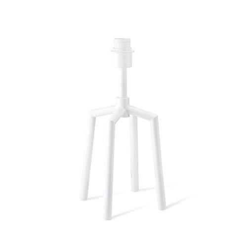 Hölzerne Tischlampe Nachttischlampe Nachtlicht DIY Lampensockel E27 für max.40W mit Schalter Transparentes Kabel/Stecker 15 x 40cm Glühbirne nicht inbegriffen