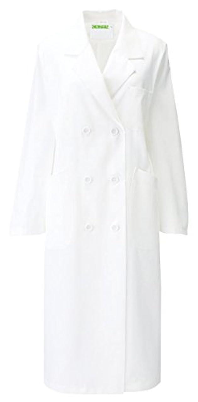 文法相対性理論狐カゼン KAZEN  レディス診察衣W型 長袖 265-90(ホワイト) L