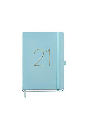 MIQUELRIUS - Agenda 2021 Chester - Español, Día Página, Tamaño 155 x 213 mm, Papel 70g, Cubierta Símil Piel, Color Aguamarina