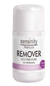 Sensinity manicura Remover Acetona pura Uv gel & Polish gel 100ml