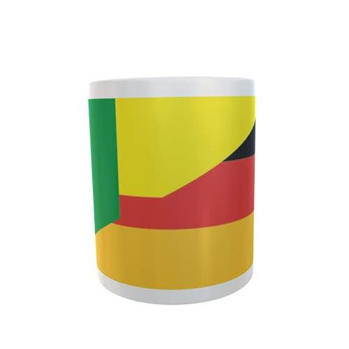 U24 Tasse Kaffeebecher Mug Cup Flagge Benin-Deutschland