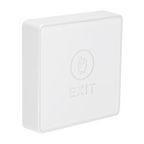 Control de acceso de salida, interruptor de salida de puerta Pantalla LED de dos colores Panel acrílico de reacción sensible con tornillo de montaje para abre-puertas de garaje para entrada