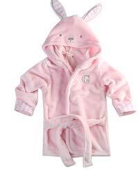Baby Bademantel Kinder Kinder Pyjama Bademantel Baby Homewear Jungen Mädchen Kapuze Robe Strandtuch-Pink-2-2T