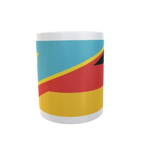U24 Tasse Kaffeebecher Mug Cup Flagge Kongo Demokratische Republik-Deutschland