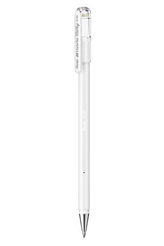 Hybrid Milky K108-PW Gel-Tintenroller, weiß, Strahlend auf Hellen und farbigen Papieren, Strichstärke 0,8 mm