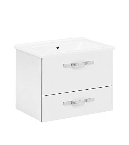 Schildmeyer 701524 Diana Waschtisch, 65 x 52,4 x 45,5 cm, weiß glanz