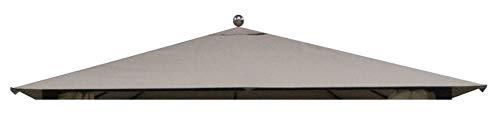 TrendLine Ersatzdach 2,98 x 2,98 für Pavillon Kos Taupe Pavillondach Zeltdach